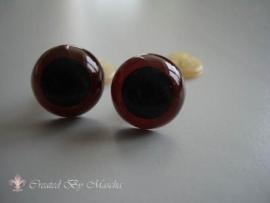 Kunstof ogen, bruin, 18 mm