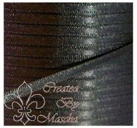 4 mm Zwart satijnlint