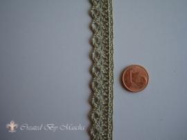 Broderie kant , Antiek groen, 10 mm