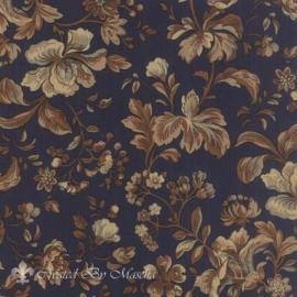 Elizas Indigo, donkerblauw met grote bloemen