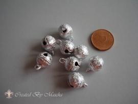 Pastel metallic, zilver,  11 mm