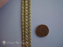 Decoratief gevlochten lint, 10 mm, goud 51327-1