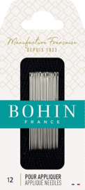 Bohin appliqueer naaldjes Nr. 12