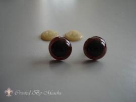 Kunstof ogen, bruin, 15 mm