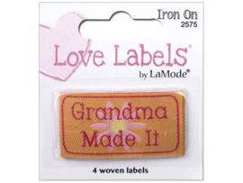 Grandma Made It - Quilt label