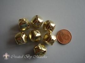 Vergulde metalen belletjes (13 mm)