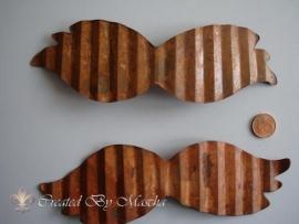 Metalen Vleugel, 16.5 cm, antiek uitstraling