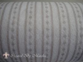 Design vilt, strepen grijs/wit