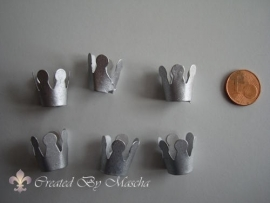 Kroontjes, zilverkleurig, 15 mm