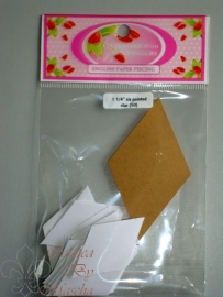 Patchwork with busy fingers - Six pointed star 1 1/4 inch met template