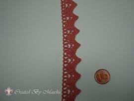 Broderie kant, Antiek roze, 20 mm