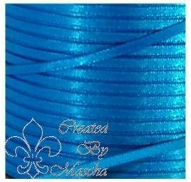 4 mm Blauw satijnlint