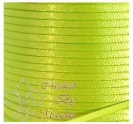 4 mm Appeltjes groen satijnlint