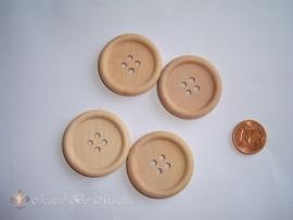Houten knopen (30 mm)