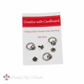 Knopjes met ring, antiek zilver