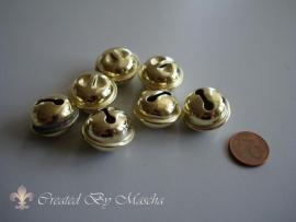 Vergulde metalen belletjes (17 mm)