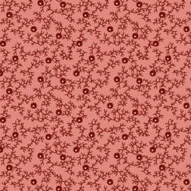 Contemporary, Blackberry Hedge, Coral Pink