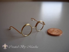Bril, 35 mm, goud
