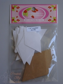 Patchwork with busy fingers - Six pointed star 1 1/2 inch met template