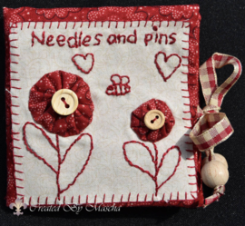 Mapje Needles & Pins -compleet, rood