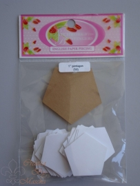 Patchwork with busy fingers - Pentagon 1 inch met template