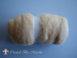 Gekaarde wol, huidskleur, 100 gram