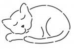Quilt Sjabloon, Catnapper, EL72