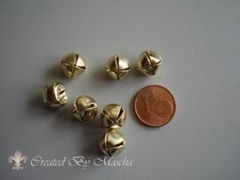 Vergulde metalen belletjes (10 mm)