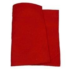 Wolvilt, rood, dikte 5 mm