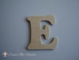MDF letter E