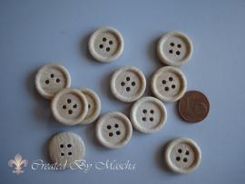 Houten knopen (18 mm)