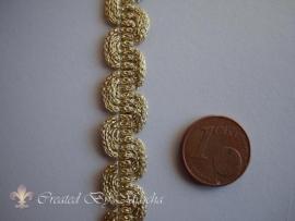 Decoratief gevlochten lint, 10 mm, goud nr 58