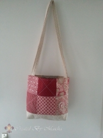 Grote Quilt tas, Rood - compleet