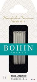 Bohin appliqueer naaldjes nr 11