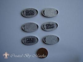 Bedel, My Design rond, antiek zilver