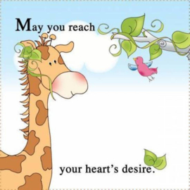 May you reach your heart's desire - Quiltlabel