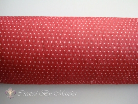 Design vilt, rood/wit dots