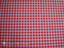 Design vilt rood wit ruit.