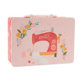 Sewing Machine Snackbox Tin