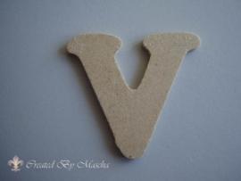 MDF letter V