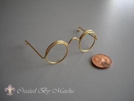 Bril, goud, 50 mm.