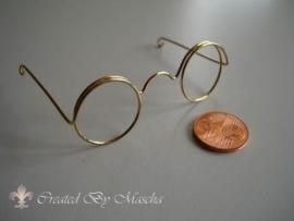 Bril, 60 mm, goud