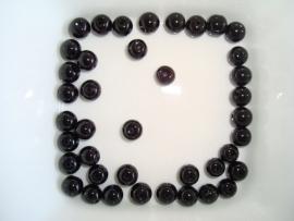 Glaskralen, rond, ca. 8mm, zwart