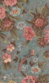 Nurture, blauw met grote bloemen