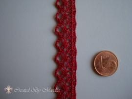 Broderie kant, Antiek rood, 10 mm