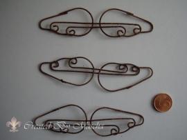 Metalen vleugel, 9.5 cm, antieke uitstraling.