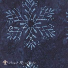 Cold Spell (Batiks), donkerblauw met werkje