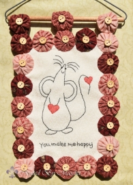 Mouse, You make me Happy- compleet Roze
