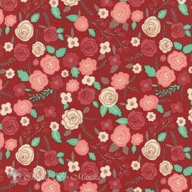 Into The Woods, rood met bloemen