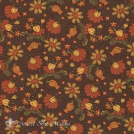 Posh Pumpkins, Seasonal Fall floral dark brown FE